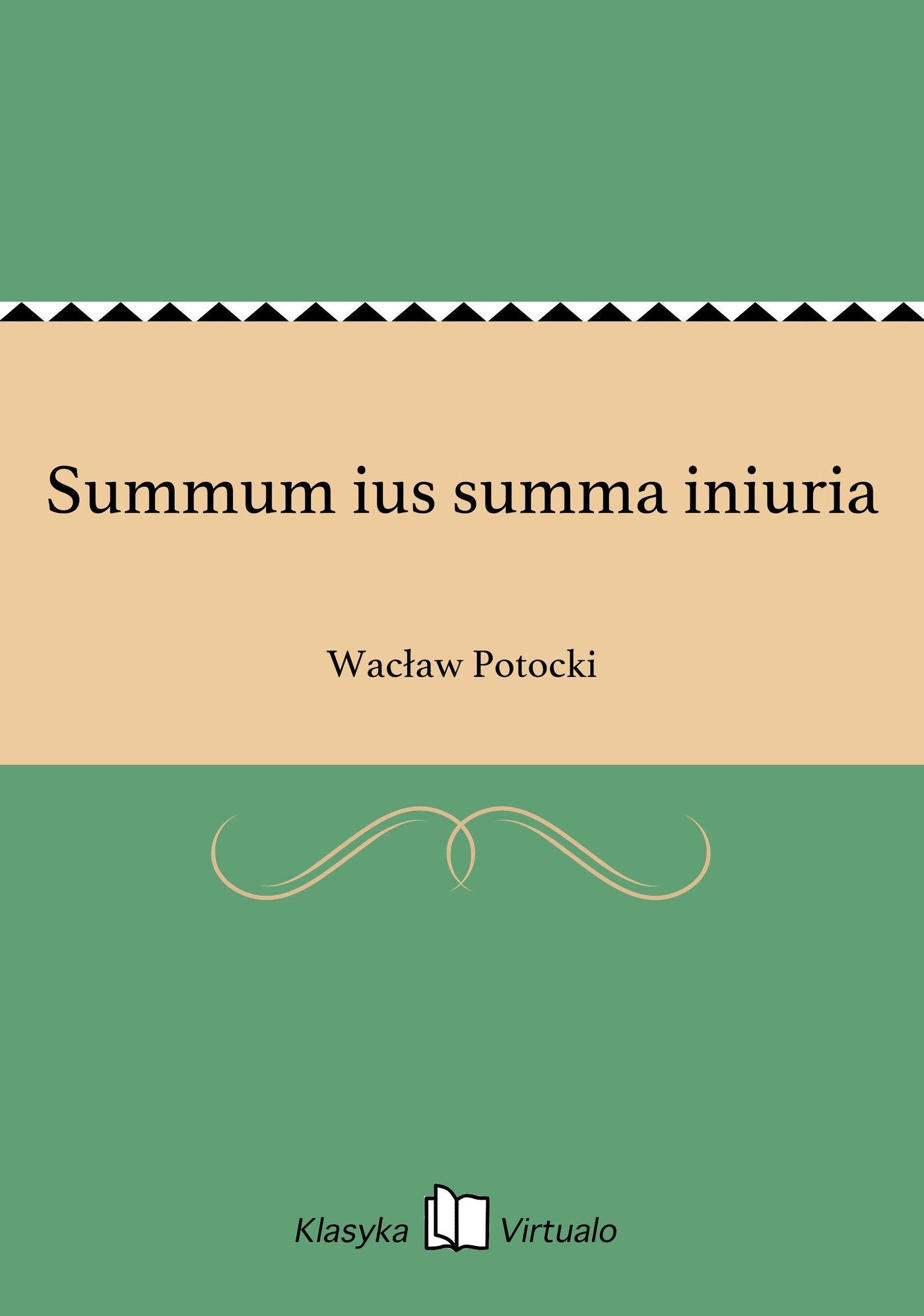 Summum ius summa iniuria - Ebook (Książka EPUB) do pobrania w formacie EPUB