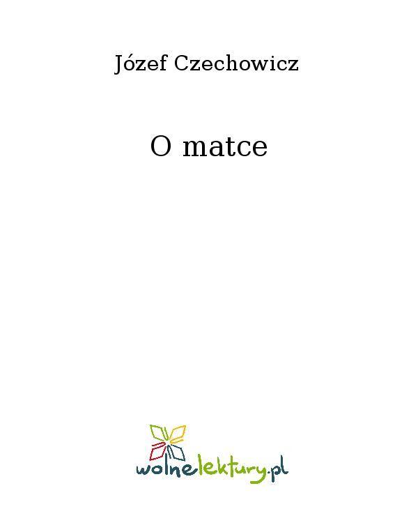 O matce - Ebook (Książka EPUB) do pobrania w formacie EPUB