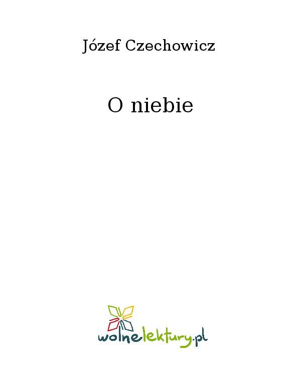 O niebie - Ebook (Książka EPUB) do pobrania w formacie EPUB
