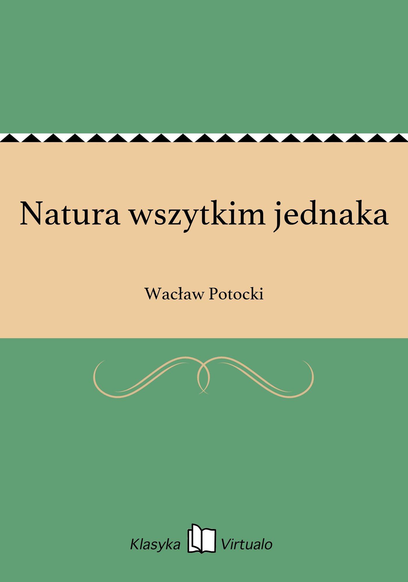 Natura wszytkim jednaka - Ebook (Książka EPUB) do pobrania w formacie EPUB