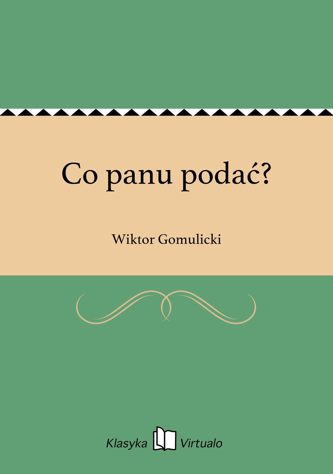 Co panu podać? - Ebook (Książka EPUB) do pobrania w formacie EPUB