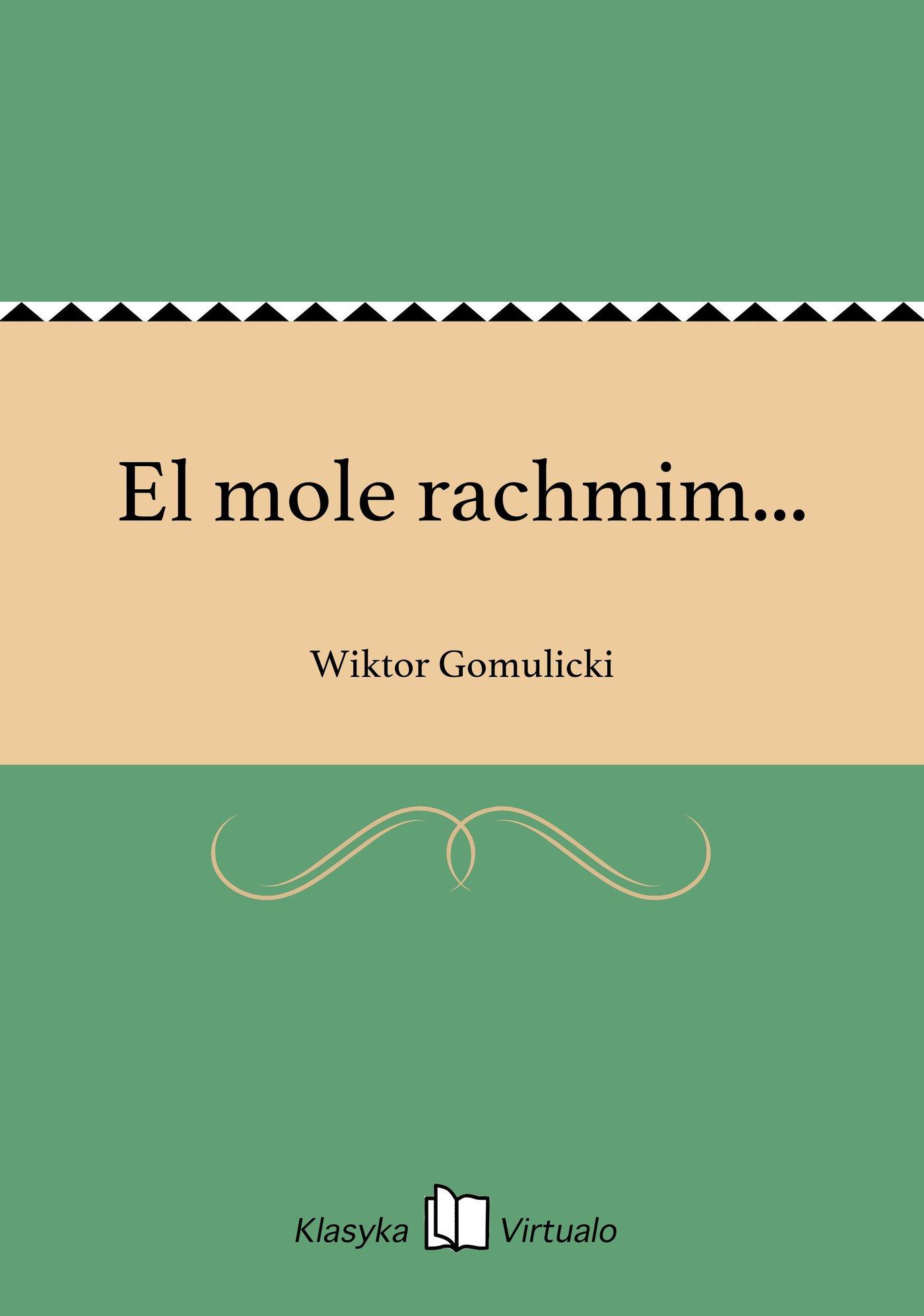 El mole rachmim... - Ebook (Książka EPUB) do pobrania w formacie EPUB