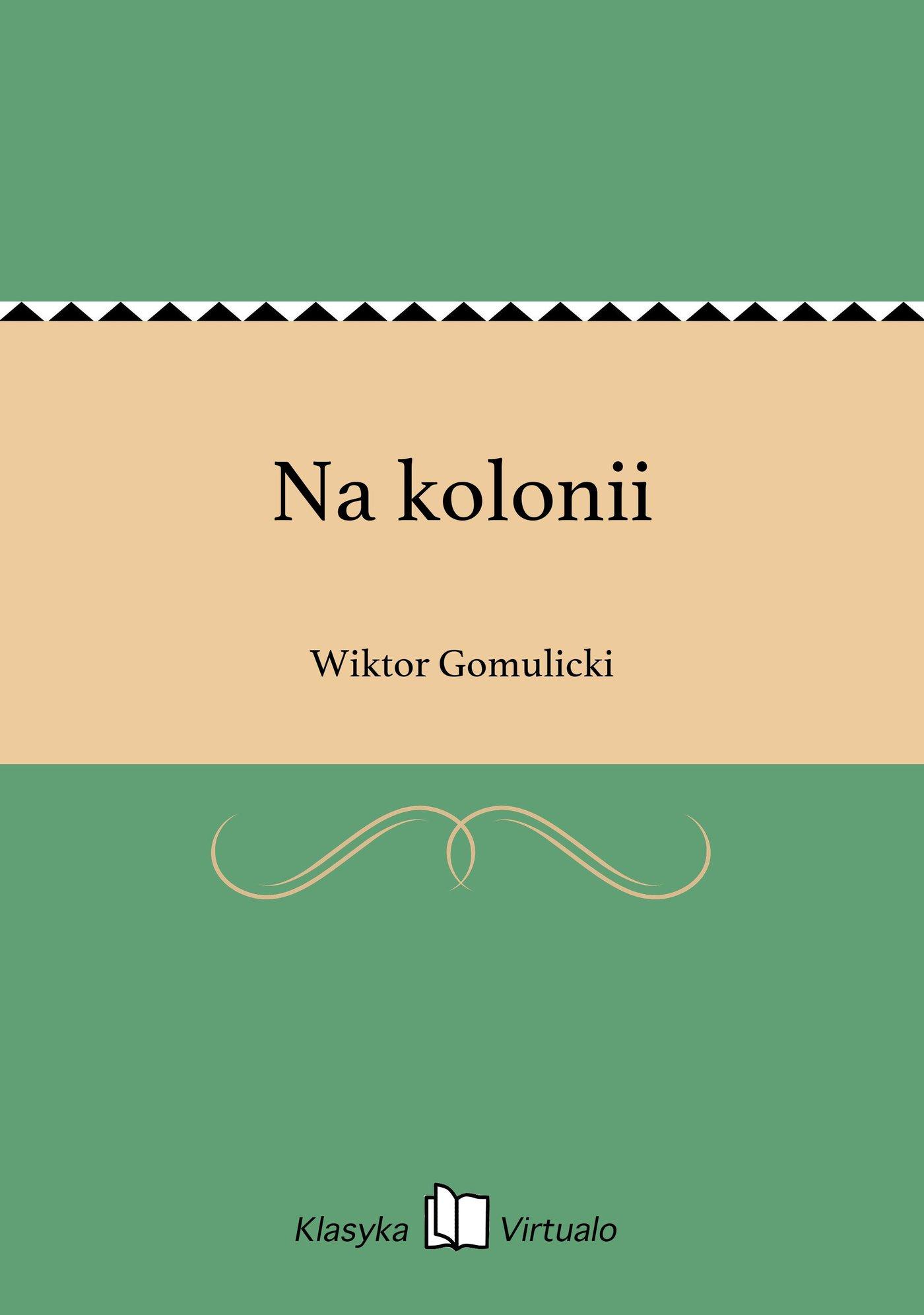 Na kolonii - Ebook (Książka EPUB) do pobrania w formacie EPUB