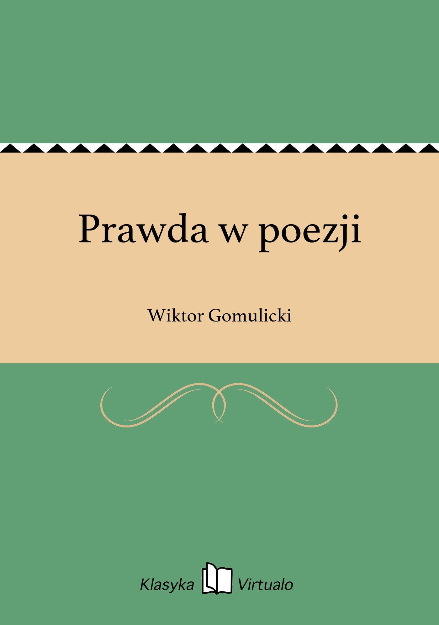 Prawda w poezji - Ebook (Książka EPUB) do pobrania w formacie EPUB