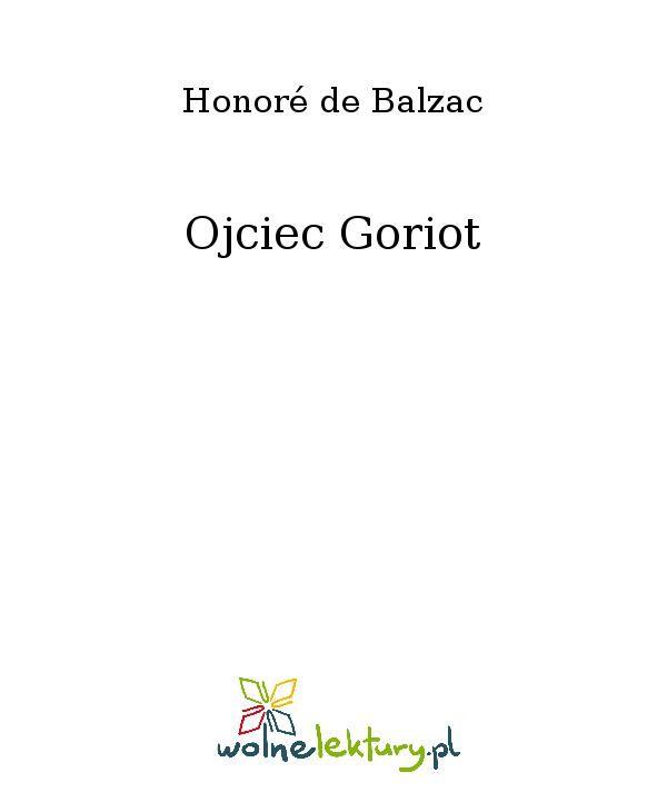 Ojciec Goriot - Ebook (Książka EPUB) do pobrania w formacie EPUB