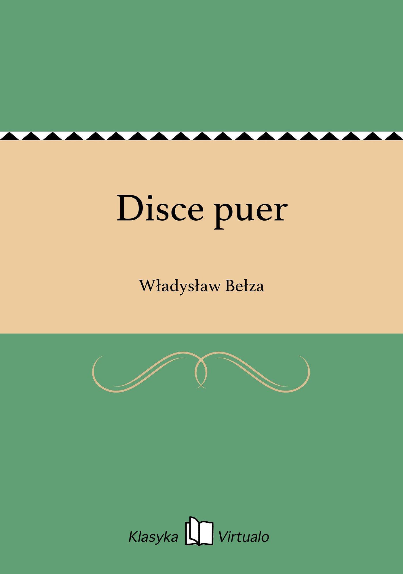 Disce puer - Ebook (Książka EPUB) do pobrania w formacie EPUB