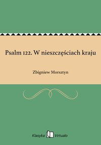 Psalm 122. W nieszczęściach kraju - Zbigniew Morsztyn - ebook