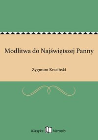Modlitwa do Najświętszej Panny - Zygmunt Krasiński - ebook