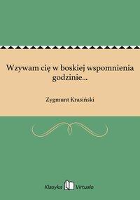 Wzywam cię w boskiej wspomnienia godzinie... - Zygmunt Krasiński - ebook