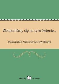 Zbłąkaliśmy się na tym świecie... - Maksymilian Aleksandrowicz Wołoszyn - ebook