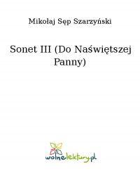 Sonet III (Do Naświętszej Panny) - Mikołaj Sęp Szarzyński - ebook