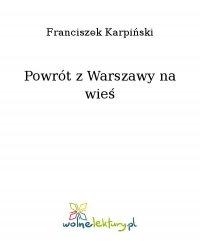 Powrót z Warszawy na wieś - Franciszek Karpiński - ebook