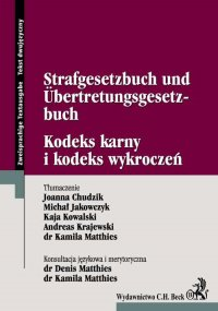 Kodeks karny i kodeks wykroczeń Strafgesetzbuch Und Űbertretungsgesetzbuch - Joanna Chudzik - ebook
