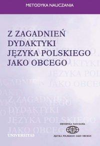 Z zagadnień dydaktyki języka polskiego jako obcego - Ewa Lipińska - ebook