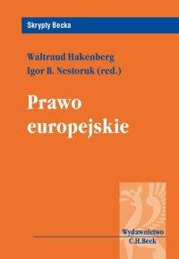 Prawo europejskie - Igor B. Nestoruk - ebook