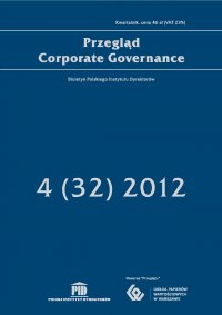Przegląd Corporate Governance 4 (32) 2012 - Andrzej S. Nartowski - ebook