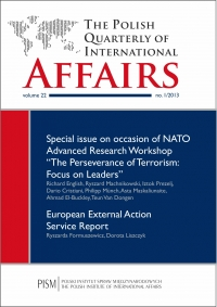 The Polish Quarterly of International Affairs 1/2013 - dr Marcin Zaborowski - eprasa