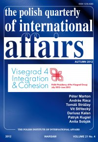 The Polish Quarterly of International Affaiers 4/2012 - dr Marcin Zaborowski - eprasa