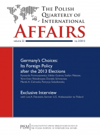 The Polish Quarterly of International Affairs 2/2013 - dr Marcin Zaborowski - eprasa