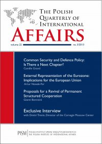 The Polish Quarterly of International Affairs 3/2013 - dr Marcin Zaborowski - eprasa