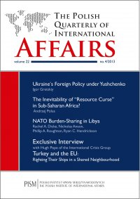 The Polish Quarterly of International Affairs 4/2013 - dr Marcin Zaborowski - eprasa