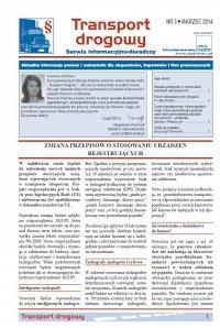 Transport drogowy. Aktualne informacje prawne i wskazówki dla eksporterów, importerów i firm przewozowych. Nr 3/2014