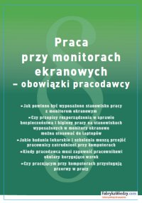 Praca przy monitorach ekranowych – obowiązki pracodawcy