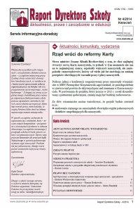 Raport Dyrektora Szkoły. Aktualności, prawo i zarządzanie w edukacji. Nr 4/2014