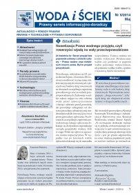 Woda i ścieki. Prawny serwis informacyjno-doradczy. Nr 5/2014