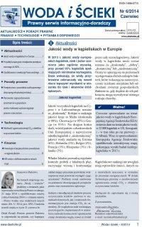 Woda i ścieki. Prawny serwis informacyjno-doradczy. Nr 6/2014