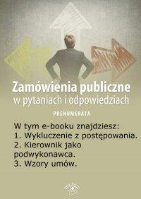 Zamówienia publiczne w pytaniach i odpowiedziach. Wydanie specjalne kwiecień 2014 r.