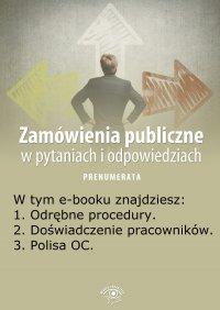 Zamówienia publiczne w pytaniach i odpowiedziach. Wydanie maj 2014 r.