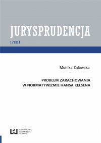 Problem zarachowania w normatywizmie Hansa Kelsena.  Jurysprudencja 1