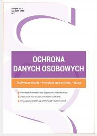 Ochrona danych osobowych - wydanie listopad 2014 r.