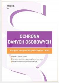 Ochrona danych osobowych - wydanie grudzień 2014 r. - Przemysław Zegarek - ebook