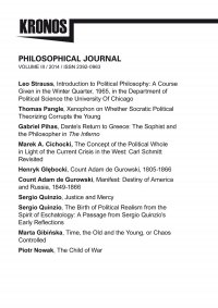KRONOS III/2014. Philosophical Journal