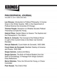 KRONOS III/2014. Philosophical Journal