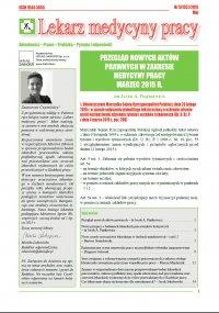 Lekarz Medycyny Pracy. Nr 5/2015
