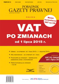 PODATKI 13 - VAT po zmianach od 1 lipca 2015 r