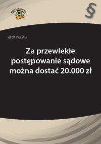 Sędzia wyjaśnia: Za przewlekłe postępowanie sądowe można dostać 20.000 zł