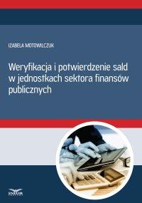 Weryfikacja i potwierdzenie sald w jednostkach sektora finansów publicznych