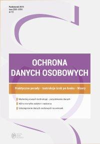 Ochrona danych osobowych - wydanie: październik 2015 r.