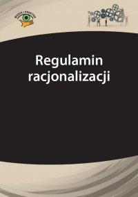 Regulamin racjonalizacji - Rafał Jaroszyński - ebook