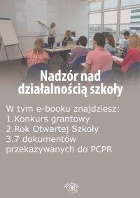 Nadzór nad działalnością szkoły, wydanie lipiec-sierpień 2015 r.