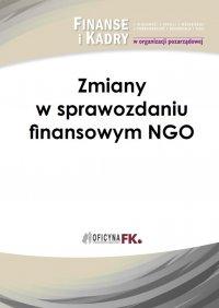 Zmiany w sprawozdaniu finansowym NGO