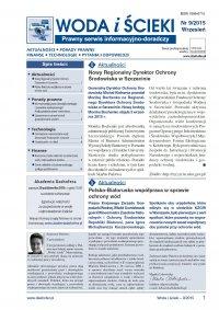 Woda i ścieki. Prawny serwis informacyjno-doradczy. Nr 9/2015