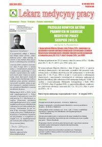 Lekarz Medycyny Pracy. Nr 10/2015