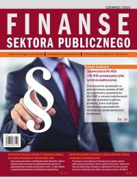 Finanse sektora publicznego, wydanie czerwiec 2015 r.