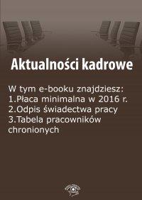 Aktualności kadrowe, wydanie październik 2015 r.