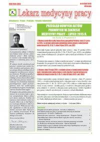 Lekarz Medycyny Pracy. Nr 9/2015